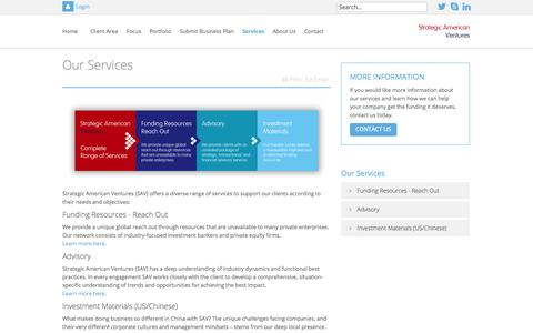 Screenshot of Services Page sav-hk.com - Services - captured Oct. 7, 2014