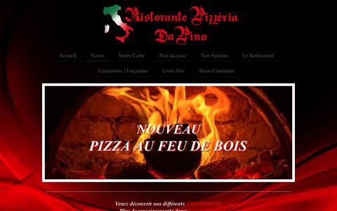 Screenshot of Press Page ristorante-pizzeria-da-pino.fr - Ristorante Pizzeria Da Pino - News - captured March 13, 2018