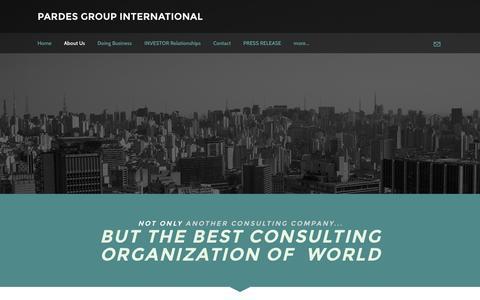 Screenshot of About Page pardesgroup.com - About Us - PARDES GROUP INTERNATIONAL - captured Oct. 5, 2016