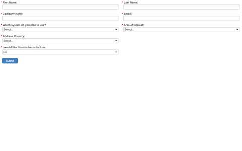 Screenshot of Landing Page illumina.com - Illumina - captured Jan. 21, 2017