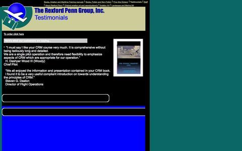 Screenshot of Testimonials Page rexfordpenn.com - Testimonials - captured Oct. 6, 2014