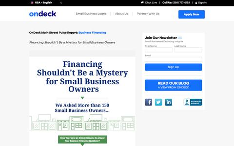 Financing Shouldn't Be a Mystery for Small Business Owners | OnDeck