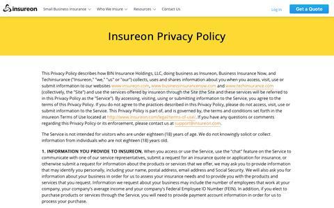 Insureon Privacy Policy | Insureon