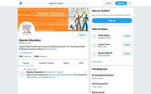 Tweets by Elsevier Education (@Elsevier_Ed) – Twitter