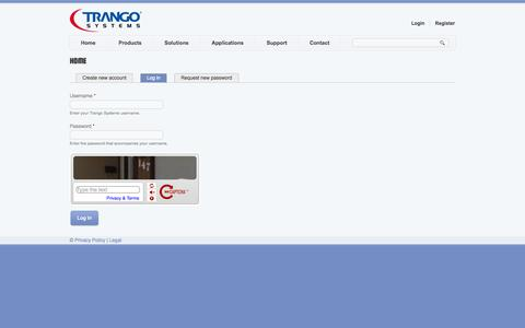 Screenshot of Login Page trangosys.com - Home | Trango Systems - captured Oct. 7, 2014
