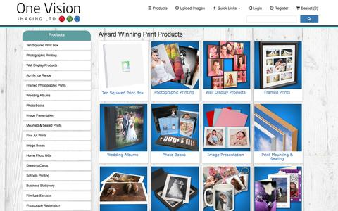 Screenshot of Products Page onevisionimaging.com - Products - captured Dec. 19, 2016