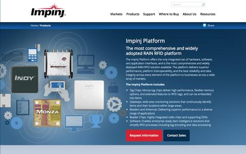 Screenshot of Products Page impinj.com - Impinj Platform | Impinj - captured June 16, 2015