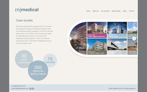 Screenshot of Case Studies Page mjmedical.com - MJ Medical | Case studies - MJ Medical - captured Nov. 16, 2016
