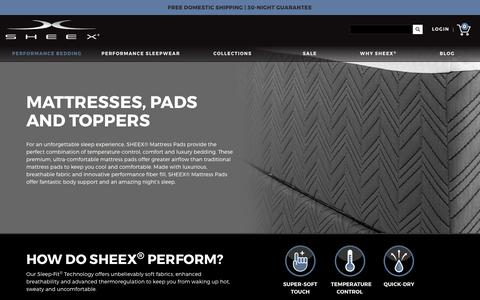Cooling Mattress Pads - SHEEX® Official Store