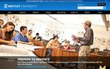 Old Screenshot Bentley University Home Page