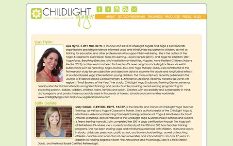 Screenshot of Team Page childlightyoga.com - Our Local Team | ChildLight Yoga - captured Nov. 4, 2018
