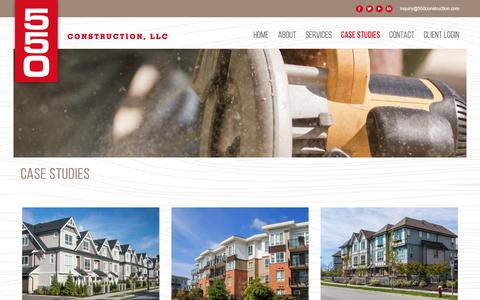 Screenshot of Case Studies Page 550construction.com - Case Studies | 550 Construction - captured Oct. 20, 2017