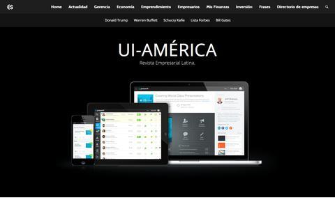 Screenshot of Home Page ui-america.com - iu-America | Revista Empresarial latina - captured Oct. 4, 2017