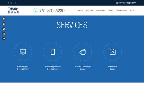 Screenshot of Services Page 3wedge.com - Interactive Web & Mobile Development Agency - Business Design - captured Sept. 19, 2014