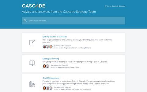 Screenshot of executestrategy.net - Cascade Strategy Knowledge Base - captured Dec. 7, 2017