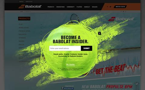 Screenshot of Products Page babolat.us - Babolat - Products - Tennis - captured March 15, 2016
