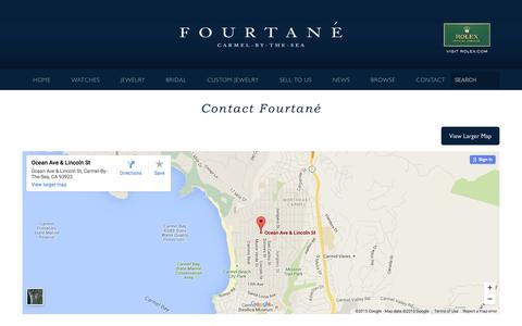 Screenshot of Contact Page fourtane.com - Contact - captured Nov. 28, 2015