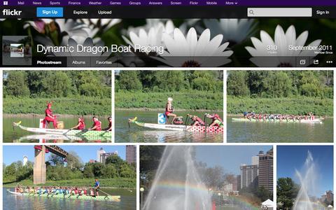 Screenshot of Flickr Page flickr.com - Flickr: Dynamic Dragon Boat Racing's Photostream - captured Oct. 23, 2014