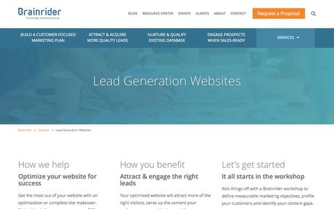 Lead Generation Websites - Brainrider
