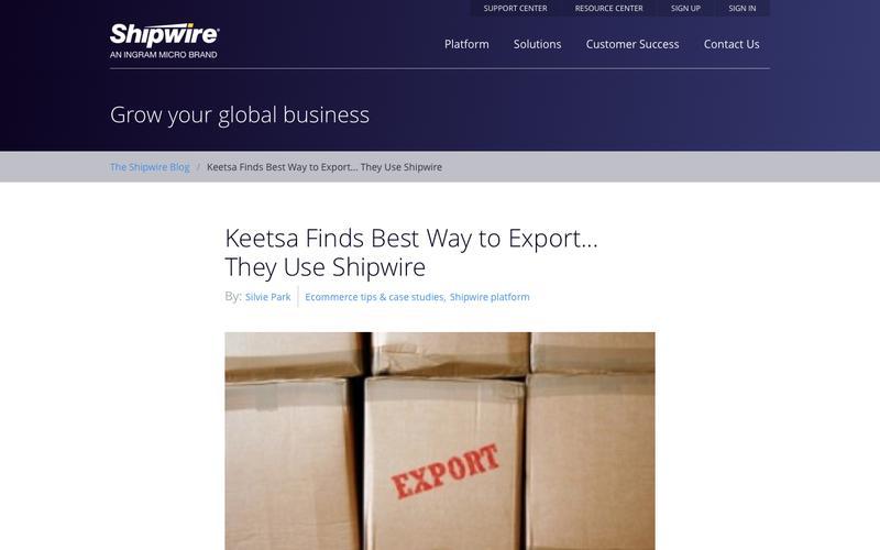 "Keetsa Exports ""Green"" Mattresses using Shipwire product fulfillment"