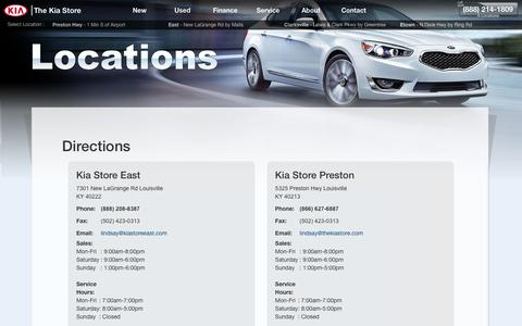 Screenshot of About Page Maps & Directions Page kiastore.com - Kia Store (888) 214-1809 | Directions To The Kia Store Louisville - captured Oct. 22, 2017