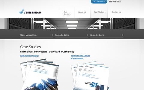 Screenshot of Case Studies Page veristream.com - Case Studies | Veristream - captured Oct. 29, 2014