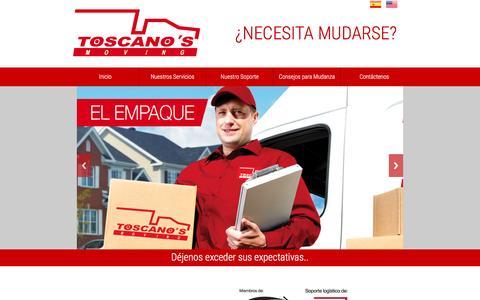 Screenshot of Home Page toscanos.com.pe - TOSCANO'S Moving (PERU), Una Mudanza por encima de sus expectativas… - captured Feb. 23, 2016
