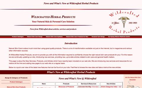 Screenshot of Press Page wildcrafted.com.au - News and what's new at Wildcrafted Herbal Products - captured March 18, 2016