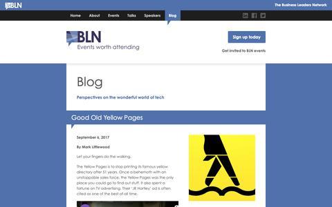 Screenshot of Blog thebln.com - Blog | The BLN - captured Oct. 19, 2018