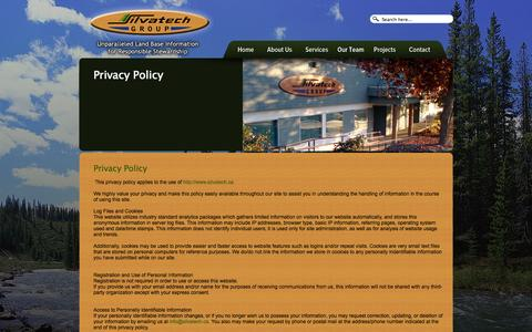 Screenshot of Privacy Page silvatech.ca - Privacy Policy | Silvatech Group - captured Oct. 26, 2014