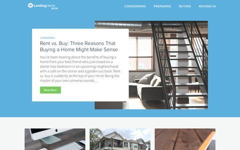 Screenshot of Blog lendinghome.com - LendingHome Blog - The Best Way to Get a Mortgage - captured Nov. 7, 2016