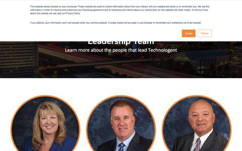 Screenshot of Team Page technologent.com - Leadership Team   Technologent - captured Sept. 20, 2018