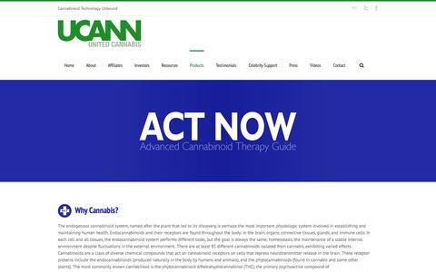 Screenshot of Products Page unitedcannabis.us - United Cannabis   –  Products - captured Nov. 3, 2014
