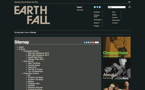 Screenshot of Site Map Page earthfall.org.uk - Earthfall   » Sitemap - captured Sept. 29, 2014