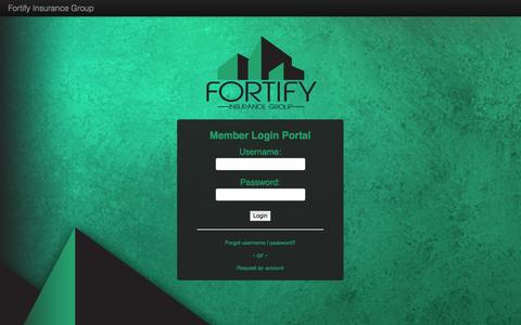 Screenshot of Login Page fortifyinsurance.com - Home Page - captured Oct. 6, 2014