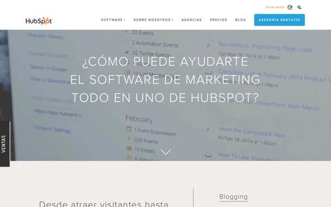 Screenshot of Products Page hubspot.es - Visión general sobre los productos de HubSpot - captured Dec. 28, 2016