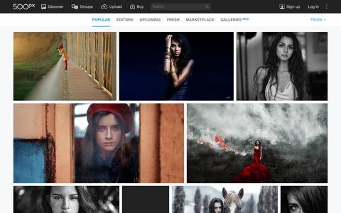 Screenshot of Team Page 500px.com - Most Popular People Photos on 500px Right Now - captured Jan. 7, 2016