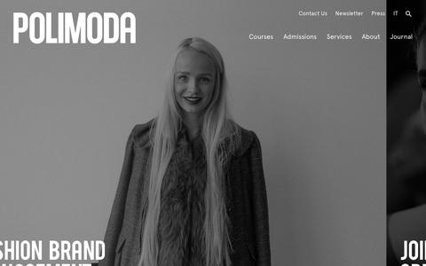Screenshot of Home Page polimoda.com - Polimoda: Fashion Design, Business, Art Direction & Design Management - captured Dec. 15, 2018