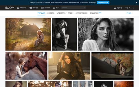 Screenshot of Team Page 500px.com - Most Popular People Photos on 500px Right Now - captured Jan. 13, 2016