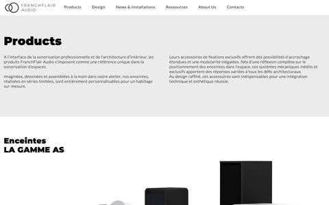 Screenshot of Products Page frenchflairaudio.com - AS Series - Uncompromising sound quality, unmistakeably professional - captured Dec. 10, 2018