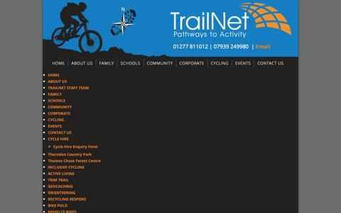 Screenshot of Site Map Page trailnet.org.uk - Sitemap - TrailNet | Community Interest Company - captured Oct. 20, 2018