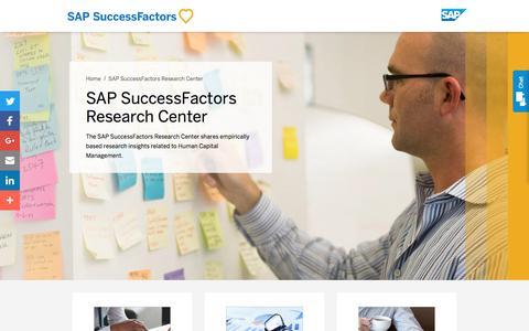 SAP SuccessFactors Research Center             | SuccessFactors