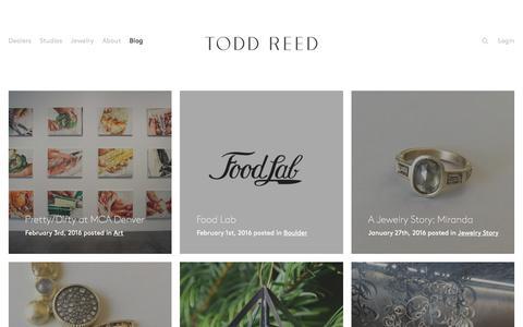 Screenshot of Blog toddreed.com - Blog – Todd Reed – Raw Elegance - captured Feb. 5, 2016