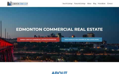 Screenshot of Home Page edmontoncommercial.com - Edmonton Commercial Real Estate – News, Information and Listings - captured Dec. 14, 2018