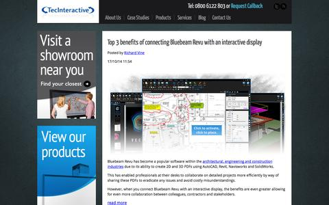 Screenshot of Blog tecinteractive.co.uk - Interactive Display Technology Blog | TecInteractive - captured Oct. 26, 2014