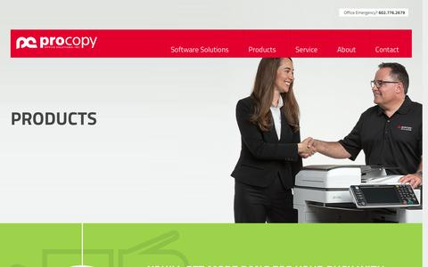 Screenshot of Products Page procopyoffice.com - Ricoh & Canon Photo Printers | Office Copy Machines For Sale or Lease - captured Dec. 6, 2016