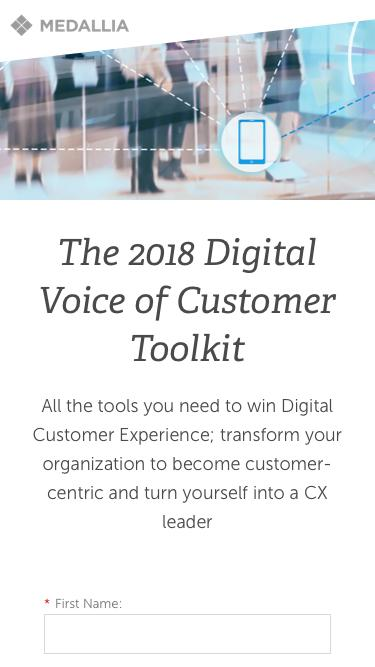 The 2018 Digital Voice of Customer Toolkit - Medallia