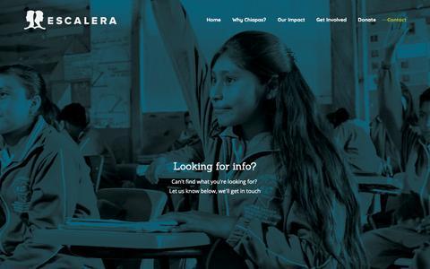 Screenshot of Contact Page escalera.org - contact – Escalera Foundation - captured Dec. 8, 2018