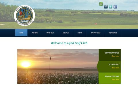 Screenshot of Home Page lyddgolfclub.co.uk - Lydd Golf Club & Driving Range - captured Oct. 3, 2014