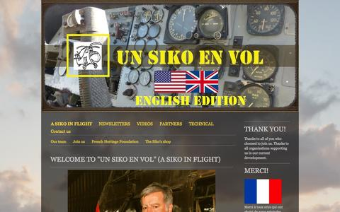Screenshot of Home Page unsikoenvol.fr - A SIKO IN FLIGHT - Site de unsikoenvol ! - captured Oct. 9, 2014
